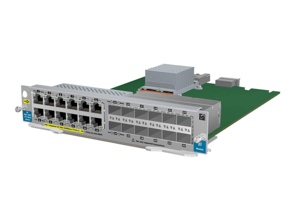 HPE 12Pt. Gig-T 12Pt.-SFP V2 ZL Module, J9637A, 12230057, Network Device Modules & Accessories