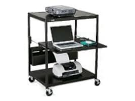 Bretford Manufacturing Interactive Learning Center Cart with Electrical Unit, ECILS1FF-BK, 4958558, Computer Carts