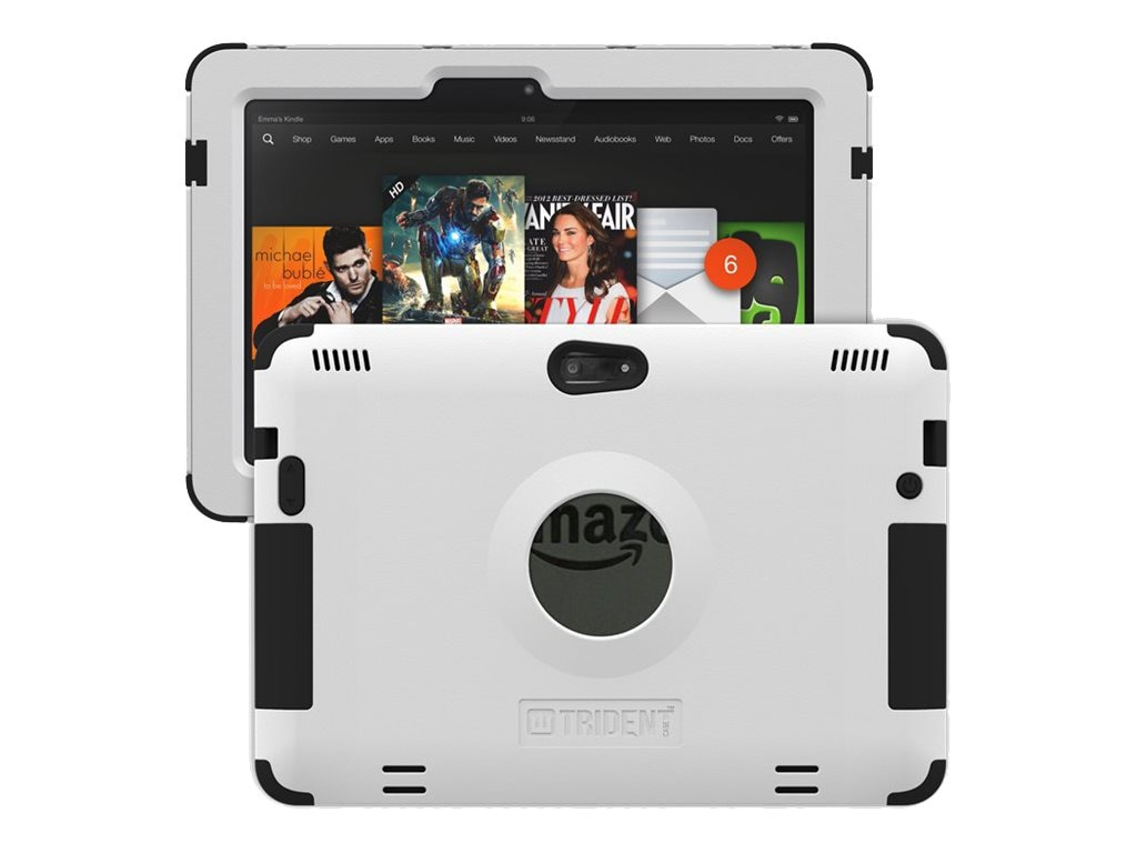 Trident Case Kraken AMS Case FOR Amazon Kindle Fire HDX 8.9, White, AMS-AMZ-KFHDX89-WT