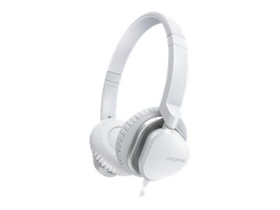 Creative Labs HITZ MA2400 Headset, White, 51EF0640AA009, 16094857, Headsets (w/ microphone)