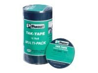 Panduit Tak-Tape Hook & Loop Strips, 35ft rolls, 0.75 width, Standard, Black, 10-pack