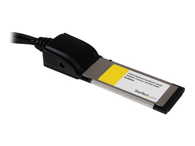 StarTech.com 4-Port Native ExpressCard RS232 Serial Adapter Card with 16C950 UART, EC4S952