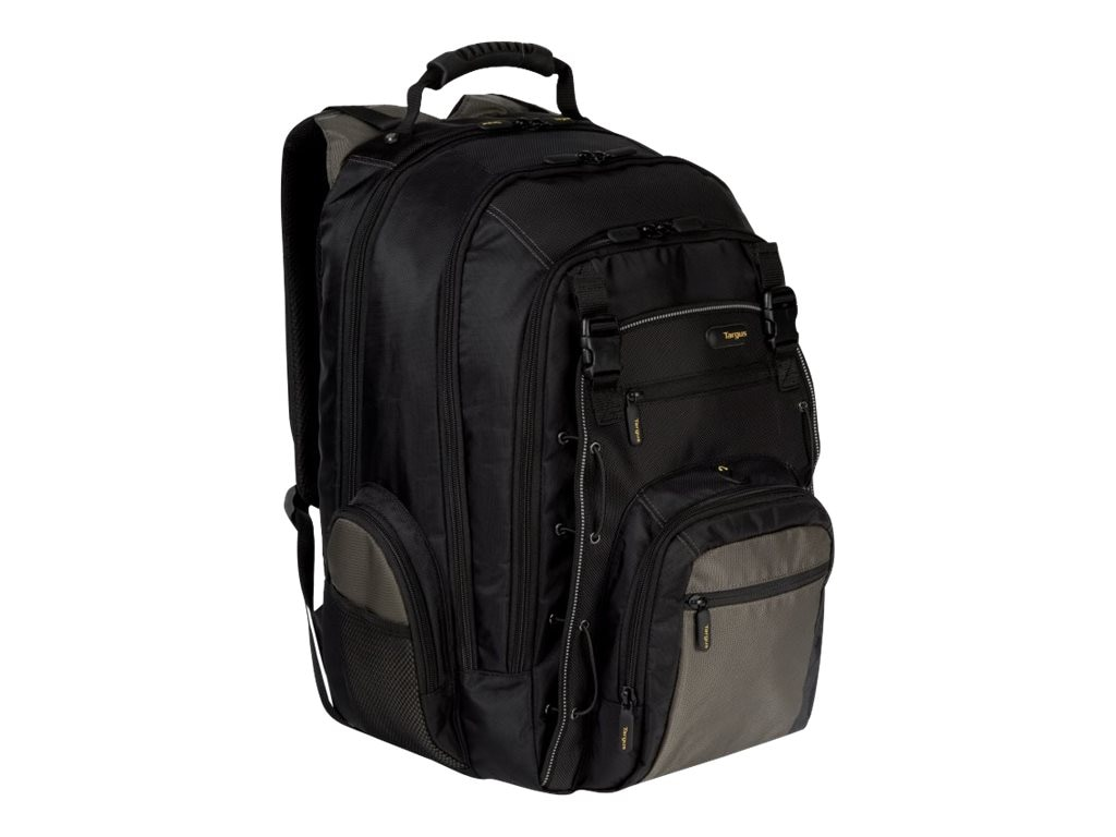 Targus 17 CityGear Laptop Backpack, Black Gray Yellow, TCG216US, 8725655, Carrying Cases - Notebook