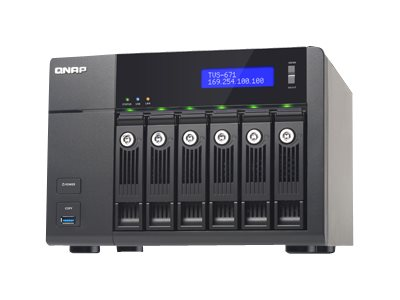 Qnap TVS-671 6-Bay Intel I3 3.5 2C 4GB 4LAN 10GB NAS, TVS-671-I3-4G-US, 18386790, Network Attached Storage