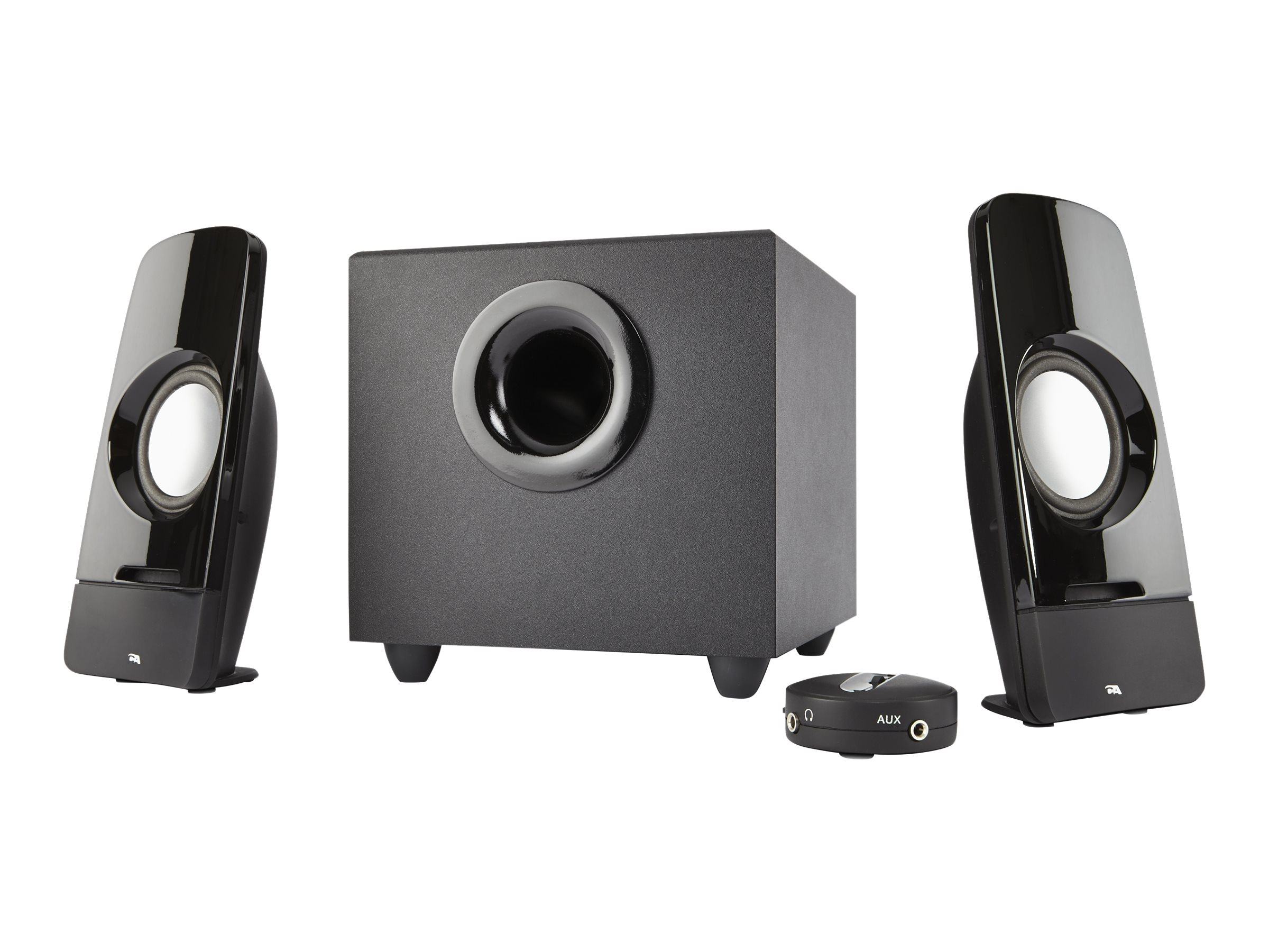 Cyber Acoustics Curve Series Control Pod Subwoofer 2.1 Powered Speaker System, CA-3350
