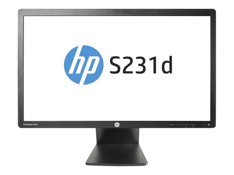 HP 23 S231d Full HD LED-LCD Monitor with Webcam, Black, F3J72AA#ABA