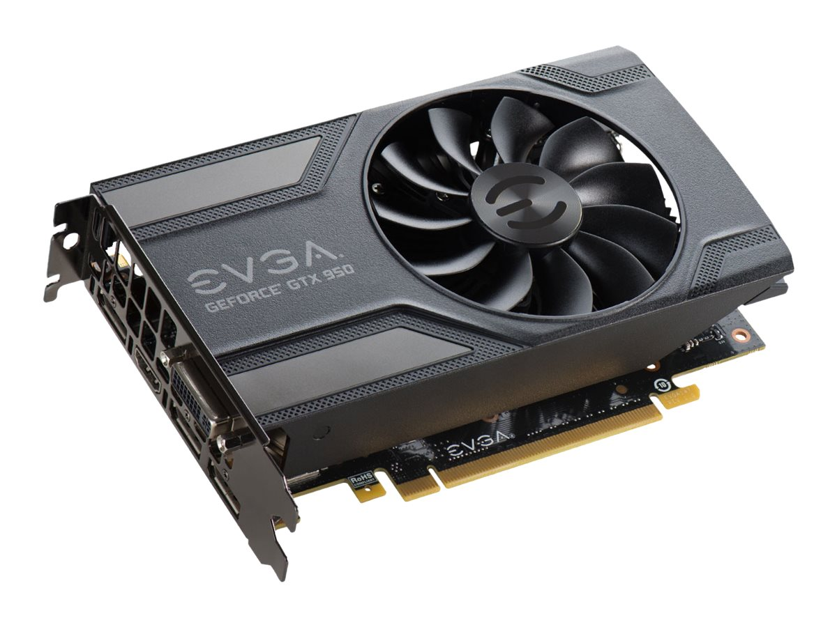 eVGA GeForce GTX 950 PCIe 3.0 Graphics Card, 2GB GDDR5, 02G-P4-1950-KR
