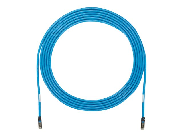 Panduit CAT6A FTP Solid Plenum Zone Cable, Blue, 50ft