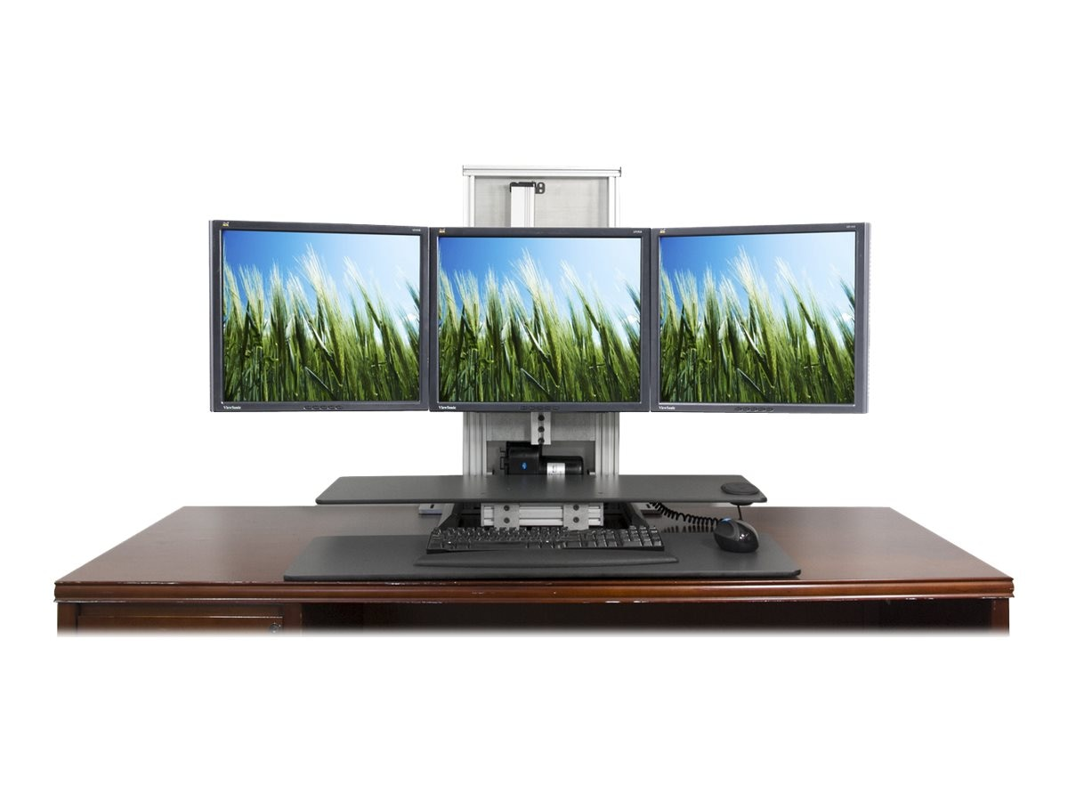Ergotech One Touch Ultra 1-2-3 Sit-Stand Workstation Bundle, 700-ULT-123-BUN, 18791189, Stands & Mounts - AV
