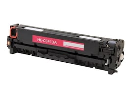 Ereplacements CE413A Magenta Toner Cartridge for HP LaserJet Pro Printers, CE413A-ER, 18373825, Toner and Imaging Components