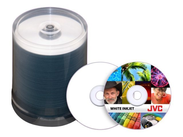 Microboards JVC 52x 80min White Inkjet Printable CD-R Media (600-pack), JCDR-WPY-SB, 11703844, CD Media