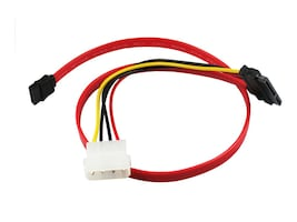 CP Technologies Clearlinks SATA Cable with LP4 Adapter, 18in, CL-SATA-18-LP4, 15493346, Cables