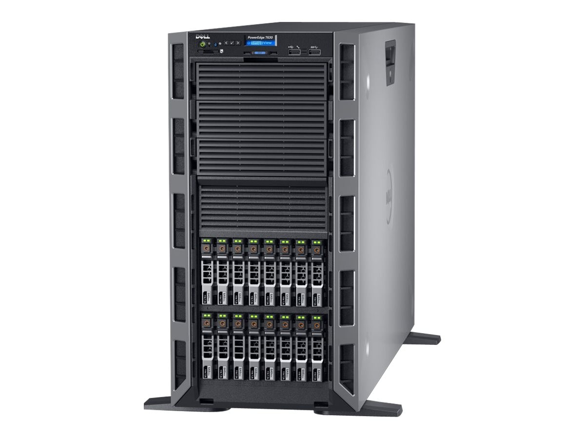 Dell T630 Tower Xeon E5-2620 v4 2.1GHz 8GB 1x600GB SAS 8x3.5 Bays DVD 2xGbE 495W, 463-7667