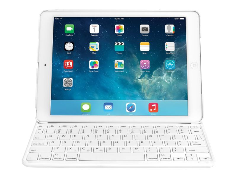 Kensington Keyfolio Thin X2 for iPad Air 2, White, K97386US, 18024377, Keyboards & Keypads
