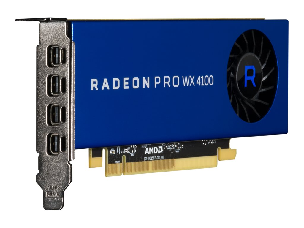 AMD Radeon Pro WX 4100 PCIe 3.0 x16 Low-Profile Graphics Card, 4GB GDDR5, 100-506008
