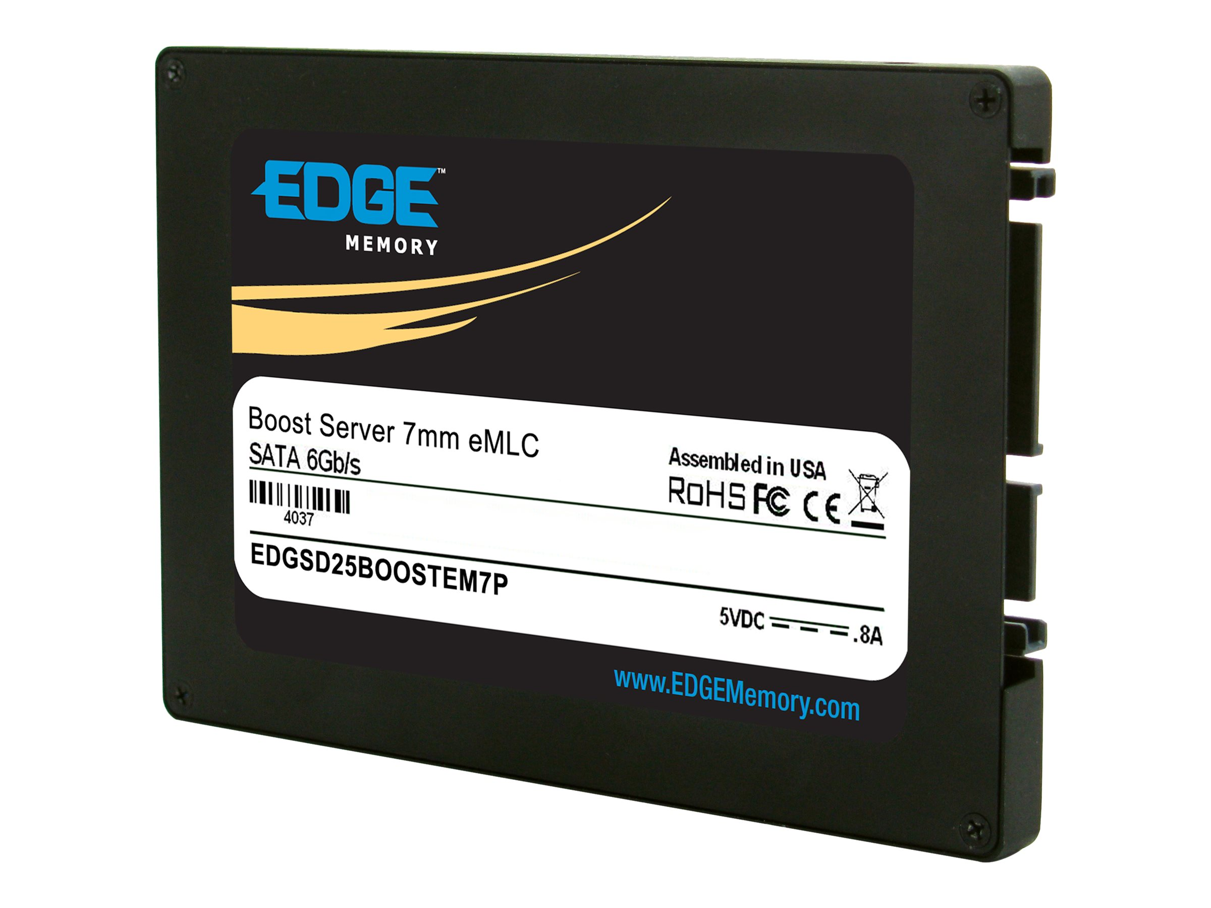 Edge 100GB Boost Server SATA 6Gb s eMLC 2.5 7mm Internal Solid State Drive