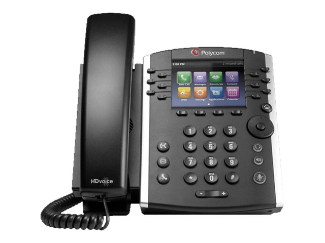 Polycom Polycom VVX400 12-Line Desktop Phone POE: No Power Supply Included, 2200-46157-025, 15777963, VoIP Phones