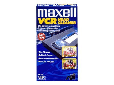 Maxell VHS VCR Head Cleaner, 290058, 6536199, Video Tape Media