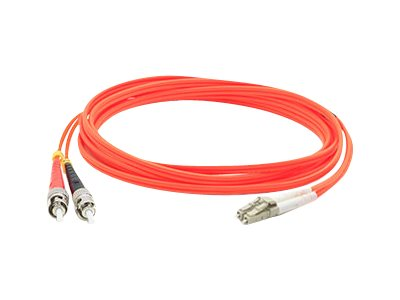 ACP-EP ST-LC 62.5 125 OM1 Multimode LSZH Duplex Fiber Cable, Orange, 30m