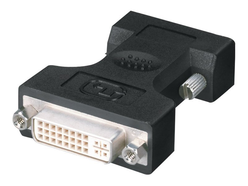Black Box DVI VGA Adapter, DVI-I (F) to HD-15 (M), FA462, 7963694, Adapters & Port Converters
