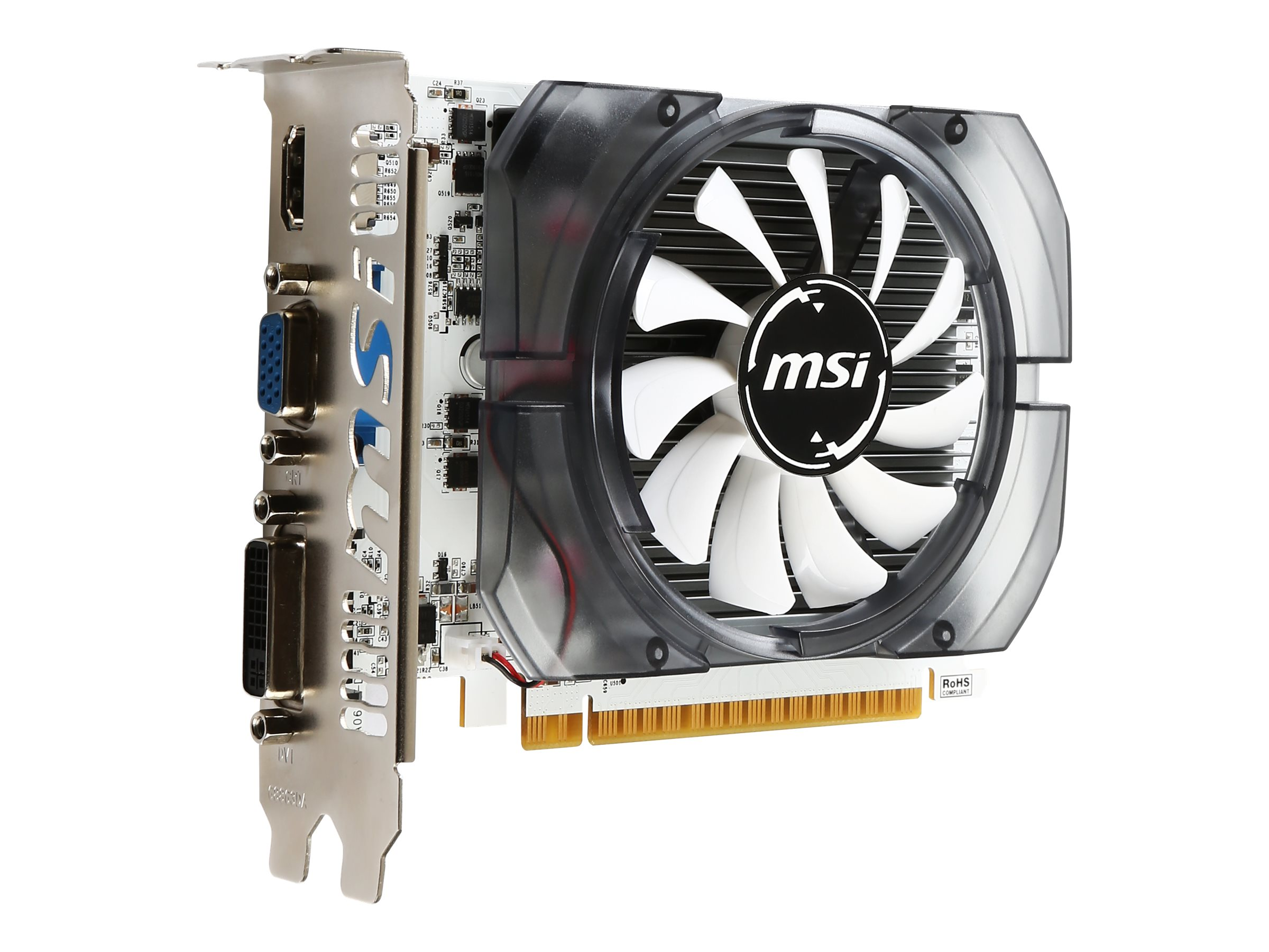 Microstar NVIDIA GeForce GT 730 PCIe 2.0 x16 Graphics Card, 2GB DDR3, N730 2GD3V3