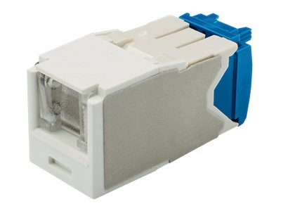 Panduit CAT6A 8-Position Spring Shuttered UTP Jack Module, Arctic White, CJH6X88TGAW