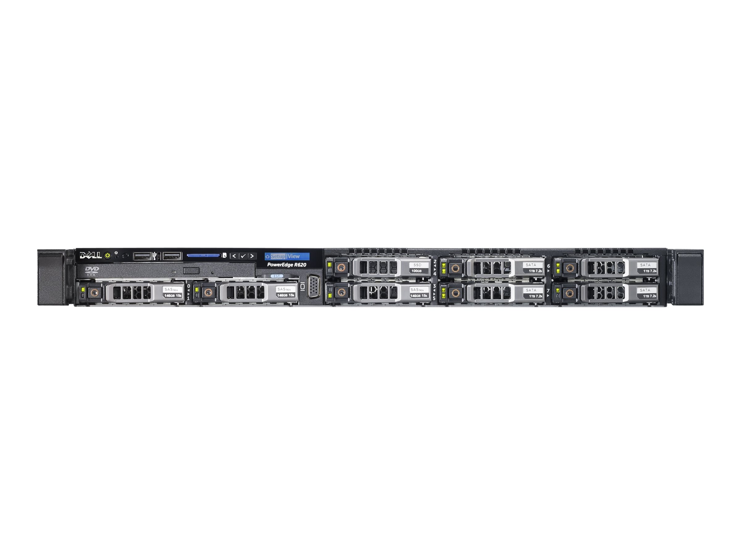 Dell PowerEdge R620 Intel 2.1GHz Xeon, 462-7555