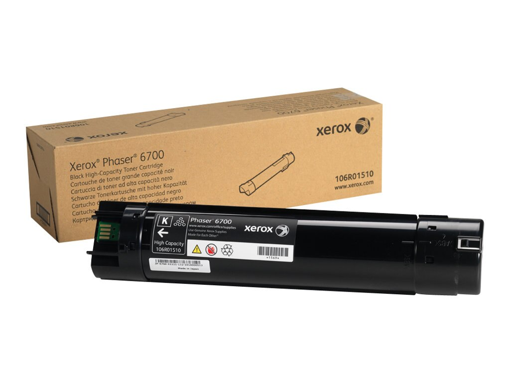 Xerox Black High Capacity Toner Cartridge for Phaser 6700 Series Printers, 106R01510