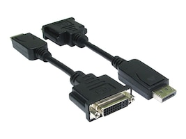4Xem DisplayPort Male to DVI-I Female Adapter, 10, 4XDPMDVIFA10, 16922237, Adapters & Port Converters