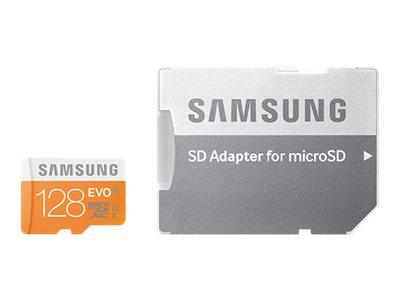 Samsung 128GB MicroSDXC EVO Memory Card with Adapter, MB-MP128DA/AM, 18743857, Memory - Flash