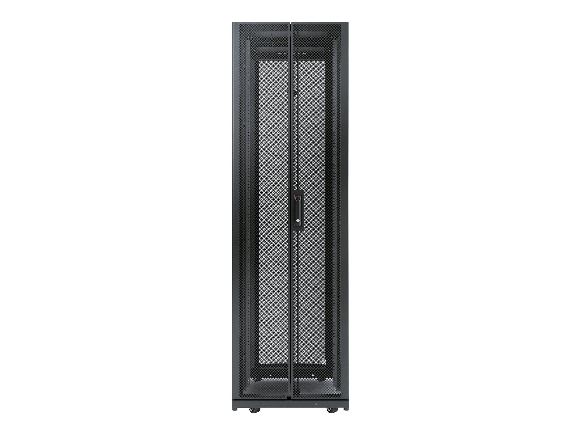 APC NetShelter AV 42U 600mm Wide x 825 Deep Enclosure with Sides and 10-32 Threaded Rails, Black, AR3810
