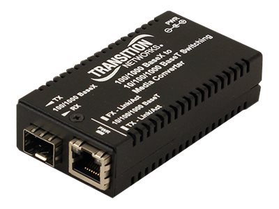 Transition 10 100 1000BT to 100 1000BX Mini Media Converter