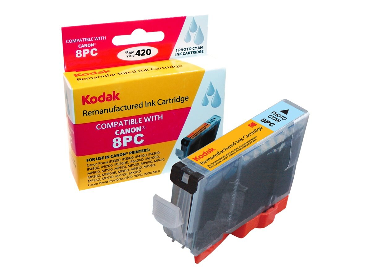 Kodak CLI-8PC Photo Cyan Ink Cartridge for Canon PIXMA iP4200, CLI-8PC-KD, 31286451, Ink Cartridges & Ink Refill Kits