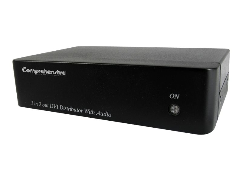 Comprehensive DVI 1x2 Distribution Amplifier with Stereo Audio, CDA-DVI102A, 15787088, Video Extenders & Splitters