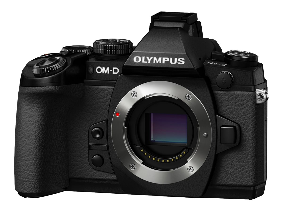 Olympus OM-D E-M1 Mirrorless Camera with 12-40mm Lens, Black
