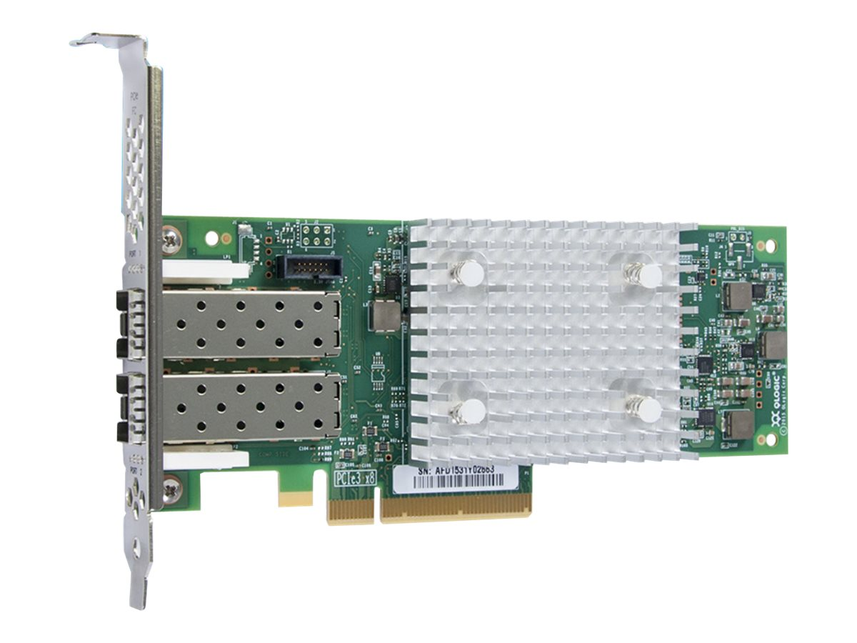 Qlogic 32GB Dual Port PCIe FC HBA with Low-Profile Bracket, QLE2742-SR-CK