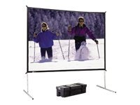 Da-Lite Fast-Fold Portable Projection Screen with Black Frame, Dual Vision, 4:3, 10.5' x 14', 88705KHD, 12920306, Projector Screens