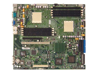 Supermicro Motherboard, 8131 HT Tunnel, Dual Opteron 200 DC, EATX, Max. 32GB DDR, PCIX, GBE, Vid, SCSI, RAID, MBD-H8DAR-8-O, 7247743, Motherboards