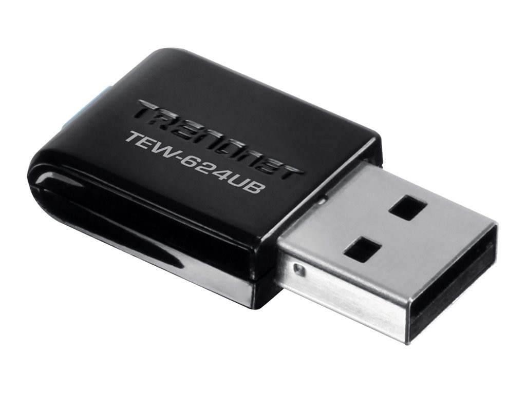 TRENDnet Wireless N USB Adapter, TEW-624UB, 7731421, Wireless Adapters & NICs