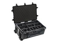 Pelican 1654 Waterproof 1650 Wheeled Case with Dividers, Black, 1650-024-110, 13520363, Carrying Cases - Other