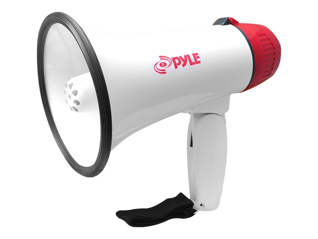 Pyle Professional Megaphone Bullhorn with Siren & LED Lights, PMP37LED