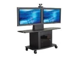 Avteq 32 Dual Single Display Mobile Cart with Set-Top Camera Mount, GMP-350L-TT1, 14620913, Computer Carts