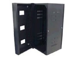 Hubbell QUADCAB Wall Mount Cabinet 24h x 36d, Solid Door, Black, HSQ24S36, 22428411, Racks & Cabinets
