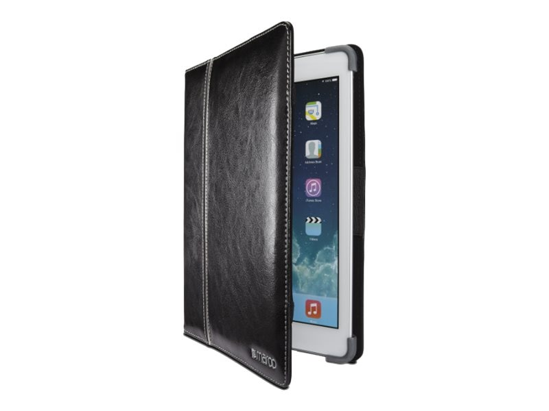 Cyber Acoustics Maroo Leather Cover SG Corner Bumper Protection for iPad Air 2, Black