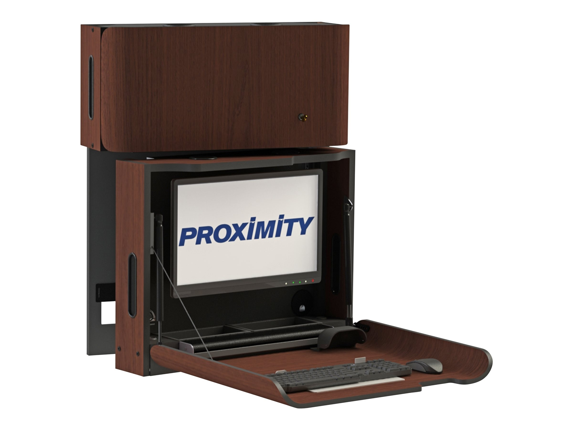 Proximity Classic Self-Disinfecting Wall Station with Monitor Tilt, Right Swivel, Brighton Walnut