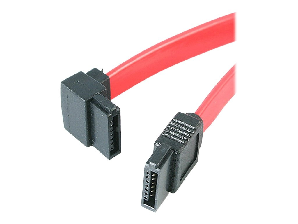 4Xem Standard To Left Angle SATA F F Cable, 1.5ft