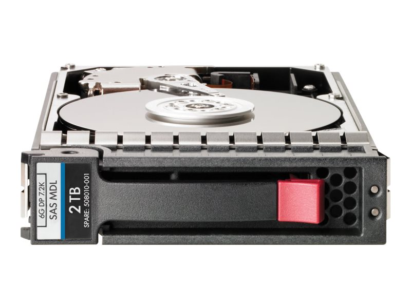 HPE 2TB SAS 6Gb s 7.2K LFF 3.5 DP Midline Hard Drive for HPE StorageWorks P2000 (Smart Buy), AW555SB, 16244464, Hard Drives - Internal