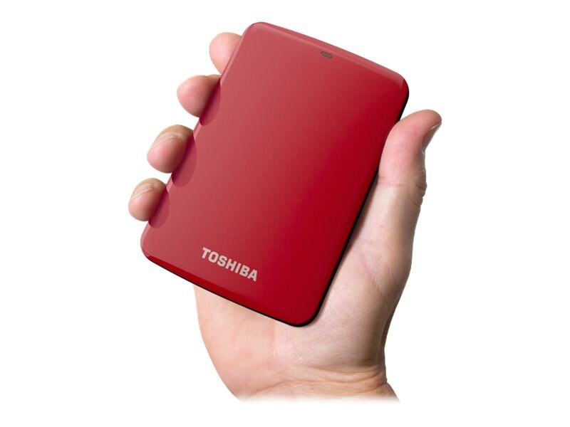 Toshiba 500GB Canvio Connect USB 3.0 Portable Hard Drive - Red, HDTC705XR3A1, 15526321, Hard Drives - External