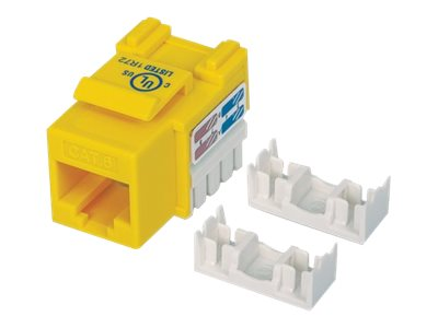 Intellinet Cat6 Keystone Jack, Yellow