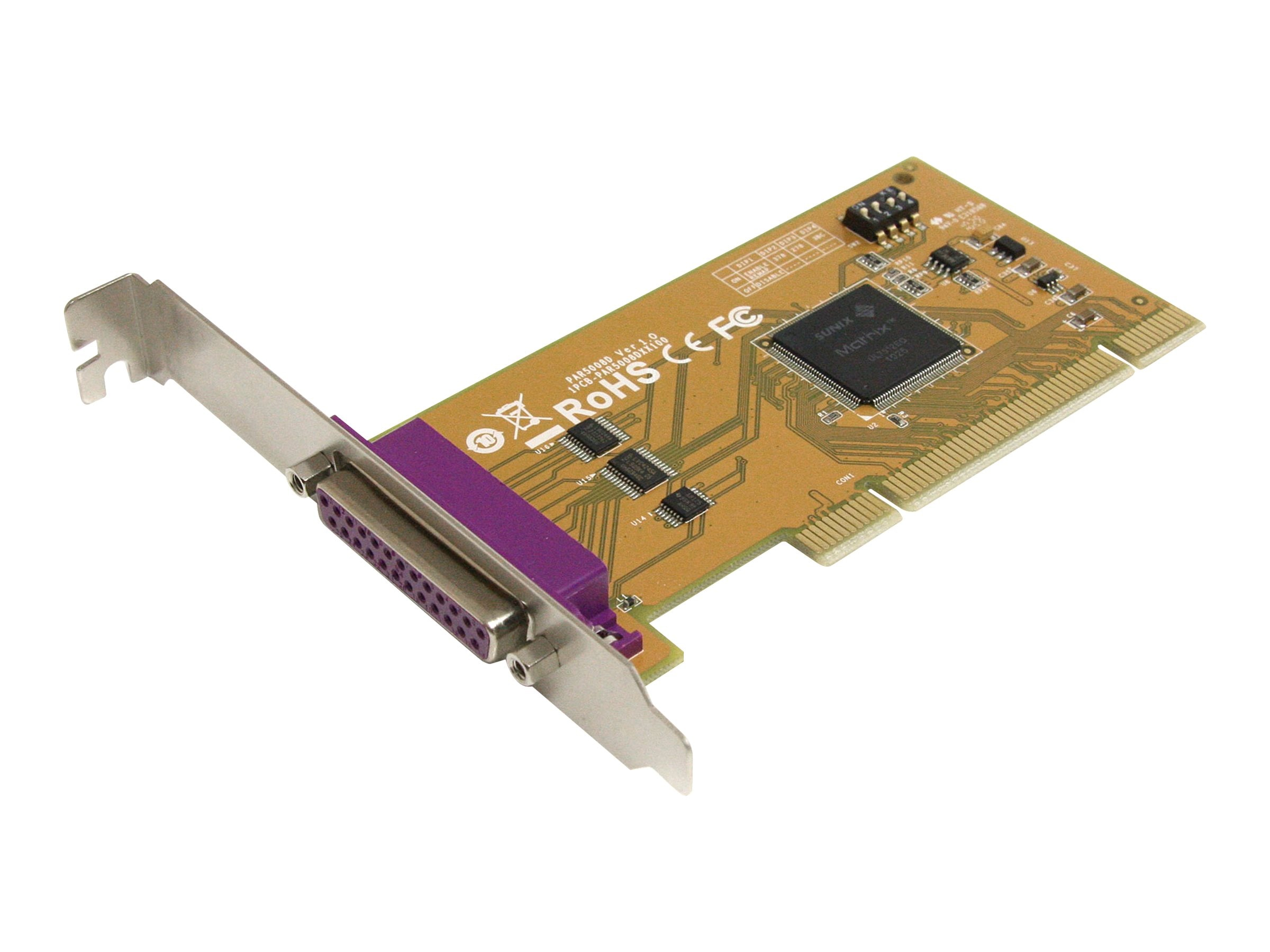 StarTech.com 1-port PCI Parallel Adapter Card w  Re-mappable Address, PCI1PM